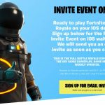 Here's how you can get an invite for Fortnite Battle Royale on iOS – Free